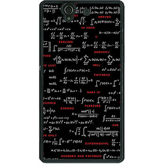 1 Crazy Designer Super Maths Back Cover Case For Sony Xperia Z C460807