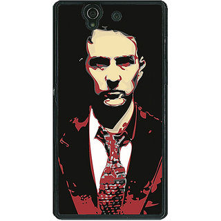 1 Crazy Designer Fight Club Back Cover Case For Sony Xperia Z C460808