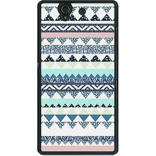1 Crazy Designer Aztec Girly Tribal Back Cover Case For Sony Xperia Z C460073