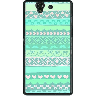 1 Crazy Designer Aztec Girly Tribal Back Cover Case For Sony Xperia Z C460074