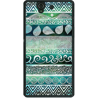 1 Crazy Designer Aztec Girly Tribal Back Cover Case For Sony Xperia Z C460076