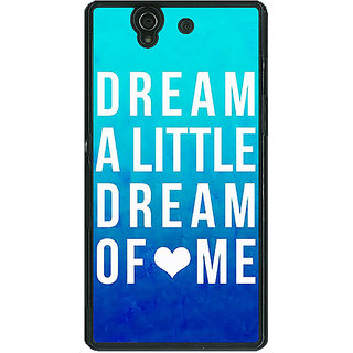 1 Crazy Designer Dream Love Back Cover Case For Sony Xperia Z C460089