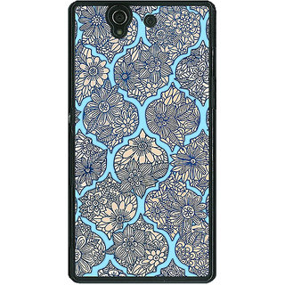 1 Crazy Designer Sky Morroccan Pattern Back Cover Case For Sony Xperia Z C460244