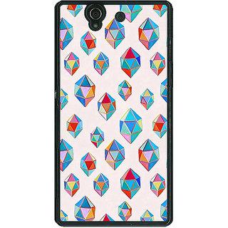 1 Crazy Designer Diamonds of Dreams Pattern Back Cover Case For Sony Xperia Z C460251