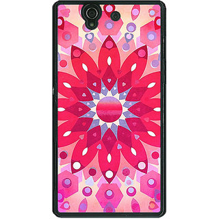 1 Crazy Designer Red Flower Pattern Back Cover Case For Sony Xperia Z C460256