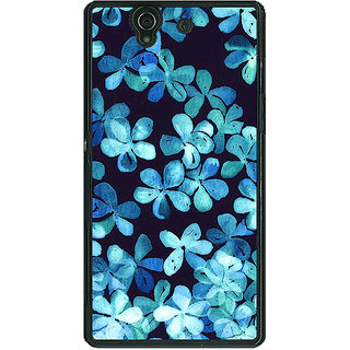 1 Crazy Designer Night Blue Flowers Pattern Back Cover Case For Sony Xperia Z C460257