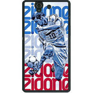1 Crazy Designer Real Madrid Zidane Back Cover Case For Sony Xperia Z C460590