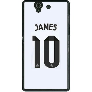1 Crazy Designer Real Madrid James Rodriguez Back Cover Case For Sony Xperia Z C460592