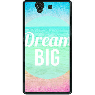 1 Crazy Designer Dream Quote Back Cover Case For Sony Xperia Z C460820