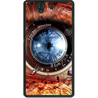 1 Crazy Designer Lens Eye Back Cover Case For Sony Xperia Z C460826