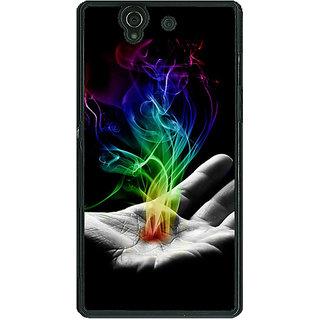 1 Crazy Designer Magic Hand Back Cover Case For Sony Xperia Z C460827