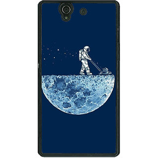 1 Crazy Designer Moon Walking Back Cover Case For Sony Xperia Z C460830