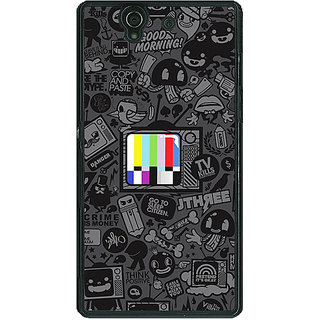 1 Crazy Designer Colour TV Back Cover Case For Sony Xperia Z C460835