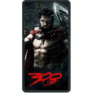 1 Crazy Designer King Leonidas Spartan Back Cover Case For Sony Xperia Z C460837