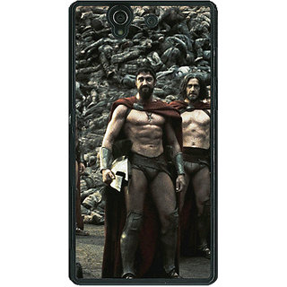 1 Crazy Designer King Leonidas Spartan Back Cover Case For Sony Xperia Z C460839