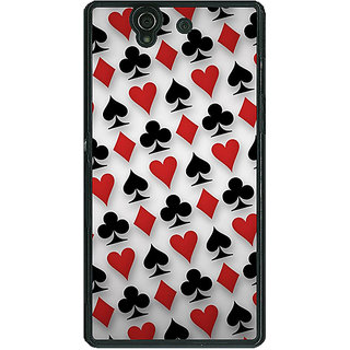 1 Crazy Designer Club Spade Diamond Heart  Back Cover Case For Sony Xperia Z C460856