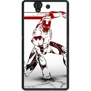 1 Crazy Designer Superheroes Ironman Back Cover Case For Sony Xperia Z C460861
