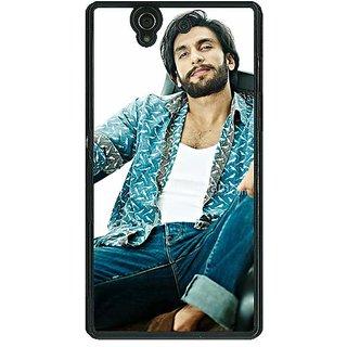 1 Crazy Designer Bollywood Superstar Ranveer Singh Back Cover Case For Sony Xperia Z C460955