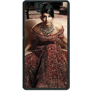1 Crazy Designer Bollywood Superstar Sonam Kapoor Back Cover Case For Sony Xperia Z C461000