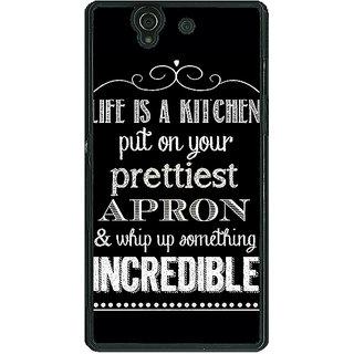 1 Crazy Designer Chef Quote Back Cover Case For Sony Xperia Z C461203