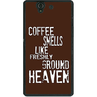 1 Crazy Designer Coffee Quote Back Cover Case For Sony Xperia Z C461221