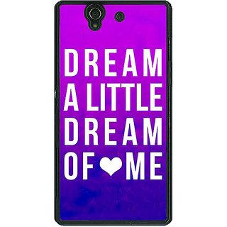 1 Crazy Designer Dream Love Back Cover Case For Sony Xperia Z C460091