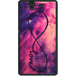 1 Crazy Designer TFIOS Infinity Love  Back Cover Case For Sony Xperia Z C460104