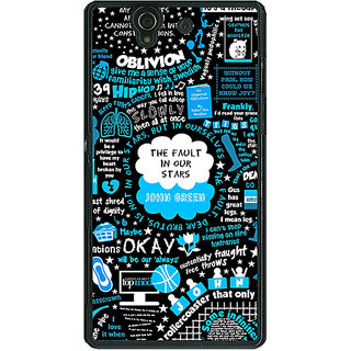 1 Crazy Designer TFIOS Fancy  Back Cover Case For Sony Xperia Z C460109