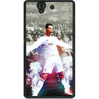 1 Crazy Designer Cristiano Ronaldo Real Madrid Back Cover Case For Sony Xperia Z C460305