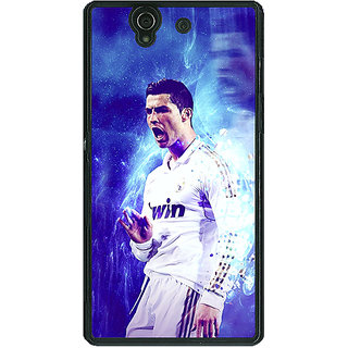 1 Crazy Designer Cristiano Ronaldo Real Madrid Back Cover Case For Sony Xperia Z C460308