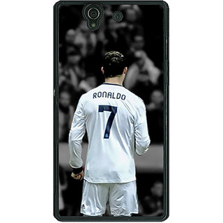 1 Crazy Designer Cristiano Ronaldo Real Madrid Back Cover Case For Sony Xperia Z C460315