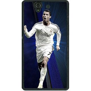 1 Crazy Designer Cristiano Ronaldo Real Madrid Back Cover Case For Sony Xperia Z C460316