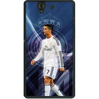 1 Crazy Designer Cristiano Ronaldo Real Madrid Back Cover Case For Sony Xperia Z C460317