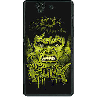 1 Crazy Designer Superheroes Hulk Back Cover Case For Sony Xperia Z C460324