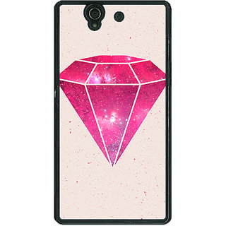 1 Crazy Designer Diamond Back Cover Case For Sony Xperia Z C460609