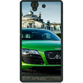 1 Crazy Designer Super Car Audi Back Cover Case For Sony Xperia Z C460619