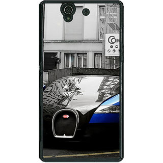 1 Crazy Designer Super Car Bugatti Back Cover Case For Sony Xperia Z C460627