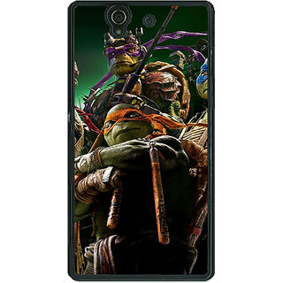 1 Crazy Designer Ninja Turtles Back Cover Case For Sony Xperia Z C460888