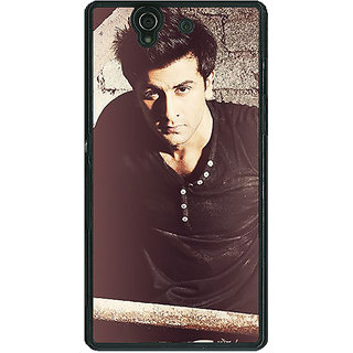 1 Crazy Designer Bollywood Superstar Ranbir Kapoor Back Cover Case For Sony Xperia Z C460903