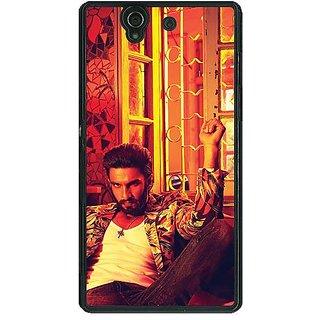 1 Crazy Designer Bollywood Superstar Ranveer Singh Back Cover Case For Sony Xperia Z C460905
