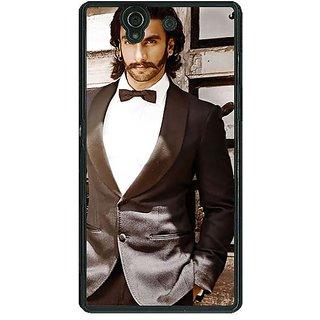 1 Crazy Designer Bollywood Superstar Ranveer Singh Back Cover Case For Sony Xperia Z C460909