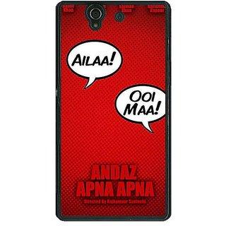 1 Crazy Designer Bollywood Superstar Andaz Apna Apna Back Cover Case For Sony Xperia Z C461086