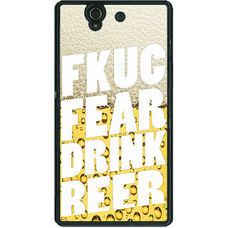 1 Crazy Designer Beer Quote Back Cover Case For Sony Xperia Z C461229