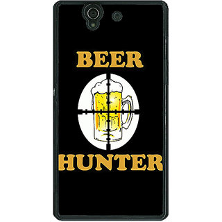 1 Crazy Designer Beer Quote Back Cover Case For Sony Xperia Z C461236