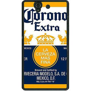 1 Crazy Designer Corona Beer Back Cover Case For Sony Xperia Z C461246