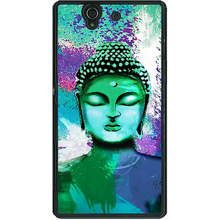 1 Crazy Designer Gautam Buddha Back Cover Case For Sony Xperia Z C461265