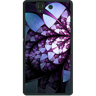 1 Crazy Designer Abstract Flower Pattern Back Cover Case For Sony Xperia Z C461505