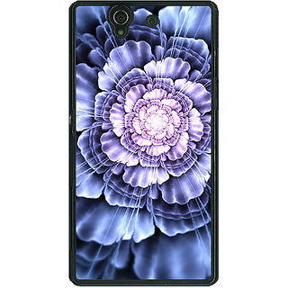 1 Crazy Designer Abstract Flower Pattern Back Cover Case For Sony Xperia Z C461516