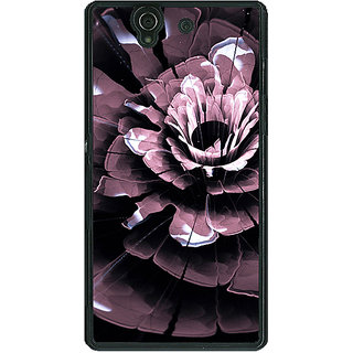 1 Crazy Designer Abstract Flower Pattern Back Cover Case For Sony Xperia Z C461522