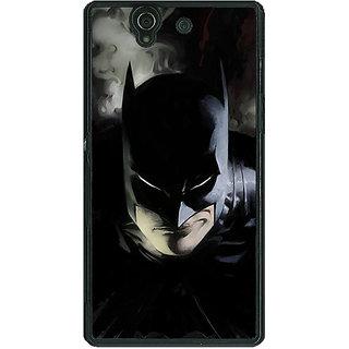1 Crazy Designer Superheroes Batman Dark knight Back Cover Case For Sony Xperia Z C460006